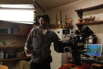 Phillip Jackson on set
